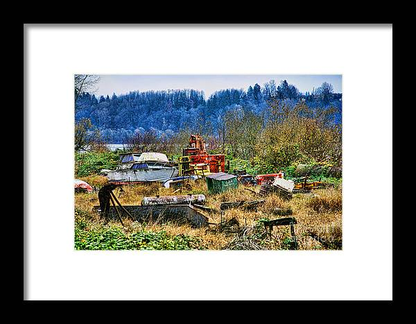 Junk Framed Print featuring the photograph Boats And Heavy Equipment by Randy Harris