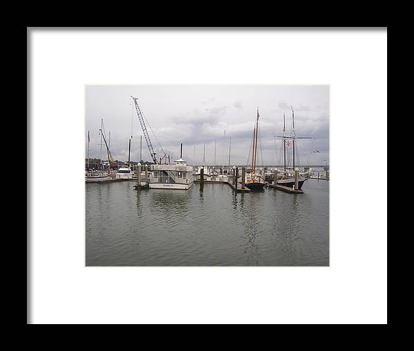 St. Augustine Framed Print featuring the photograph Boats At St. Augustine Harbor by Cathy Lindsey