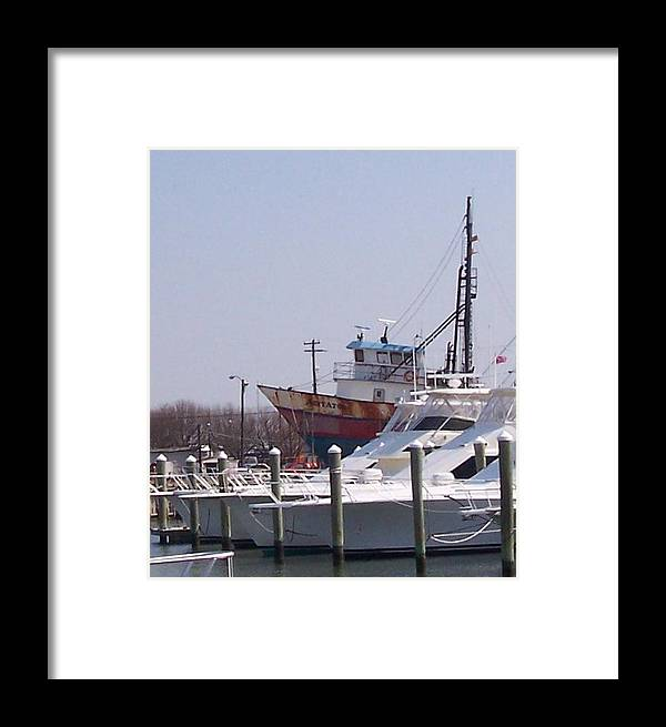 Boat Framed Print featuring the photograph Boats Docked by Pharris Art
