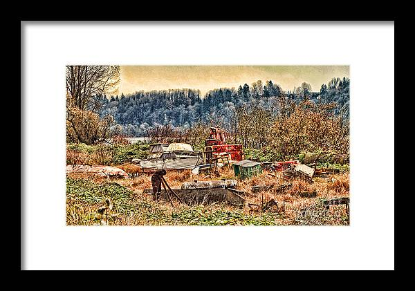Boats Framed Print featuring the photograph Boats In The Field by Dawn Harris