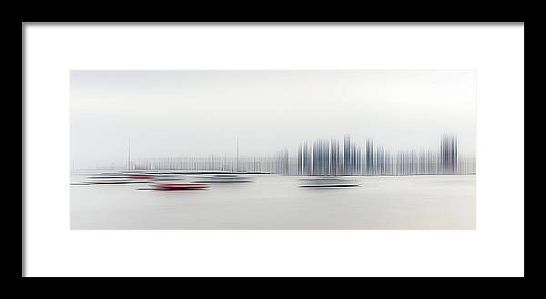 Boats Framed Print featuring the photograph Boats In The Harbour by Richard Adams