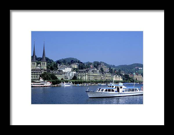 Geneva Framed Print featuring the photograph Boats On Lake Geneva by Carl Purcell