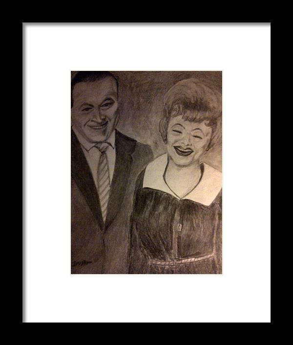Lucile Ball Framed Print featuring the drawing Bob And Lucy by Irving Starr
