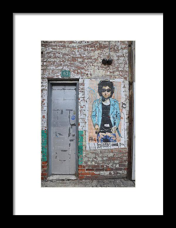 New York Framed Print featuring the photograph Bob Dylan Graffiti by Todd Hartzo