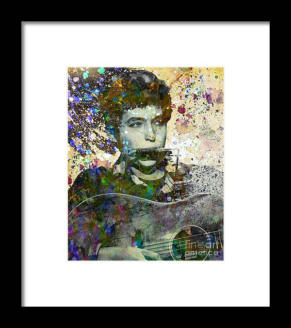 60s Framed Print featuring the painting Bob Dylan Original Painting Print by Ryan Rock Artist