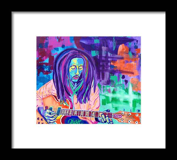 Voka Framed Print featuring the painting Bob Marley by Janice Westfall