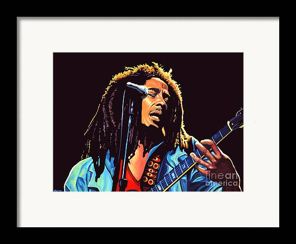 Bob Marley Framed Print featuring the painting Bob Marley by Paul Meijering