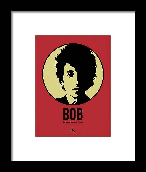 Music Framed Print featuring the digital art Bob Poster 1 by Naxart Studio