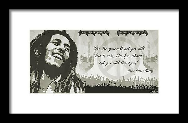 Bob Framed Print featuring the digital art Bob Quote Yellow by Jay Aitch