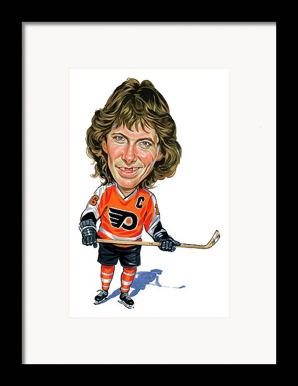 Bobby Clarke Framed Print featuring the painting Bobby Clarke by Art