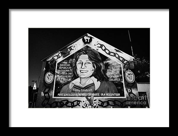 Belfast Framed Print featuring the photograph Bobby Sands Mural Belfast by Joe Fox