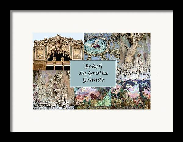Boboli La Grotta Grande Framed Print featuring the photograph Boboli La Grotta Grande 1 by Ellen Henneke