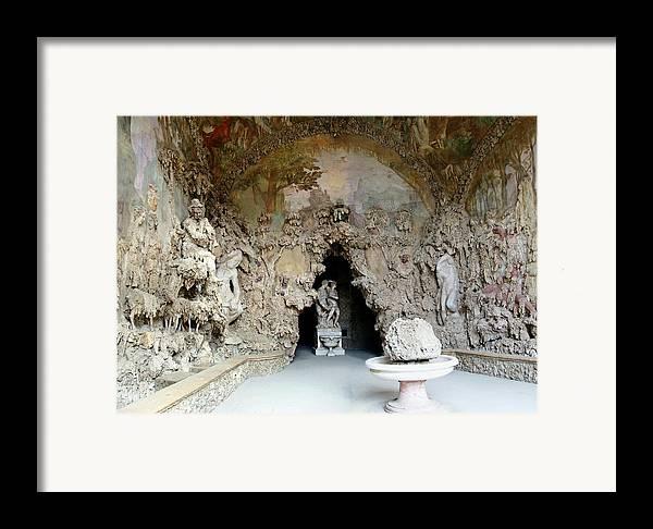 Boboli La Grotto Grande Framed Print featuring the photograph Boboli La Grotta Grande 3 by Ellen Henneke