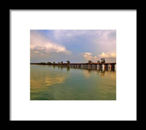 Swflsunsetscenery Framed Print featuring the photograph Boca Grande Trestle by Tracy Barnard