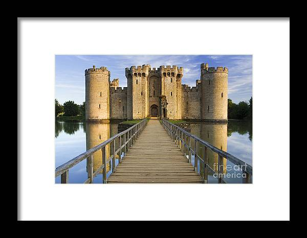 Bodiam Framed Print featuring the photograph Bodiam Castle by Derek Croucher
