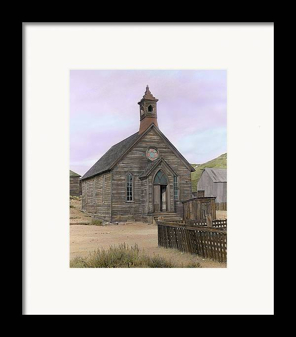 Bodie Framed Print featuring the photograph Bodie Church by Mel Felix