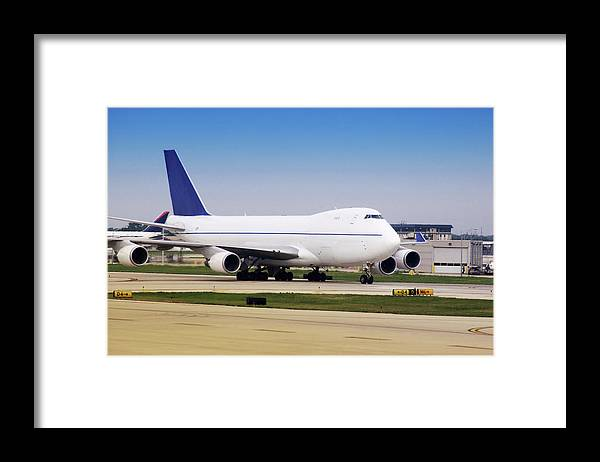 Transport Framed Print featuring the photograph Boeing 747 Cargo Airplane by Steve Allen/science Photo Library