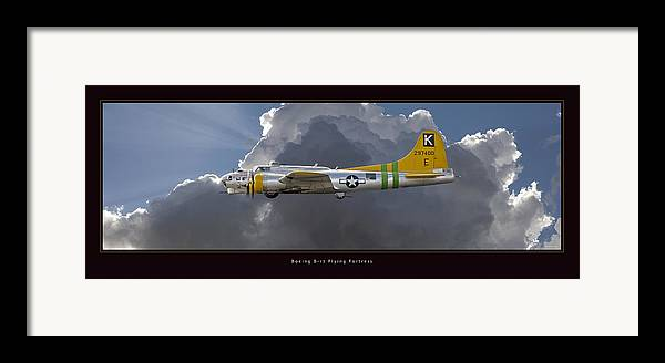 B-17 Flying Fortress Framed Prints Framed Print featuring the photograph Boeing B-17 by Larry McManus