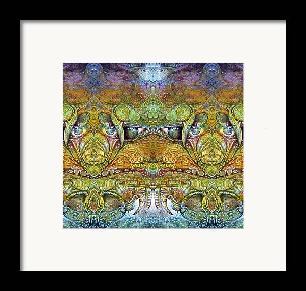 \bogomil Variations\ \otto Rapp\ \ Michael F Wolik\ Framed Print featuring the digital art Bogomil Variation 12 by Otto Rapp