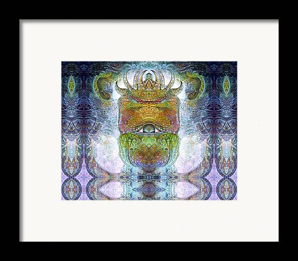 \bogomil Variations\ \otto Rapp\ \ Michael F Wolik\ Surrealism Framed Print featuring the digital art Bogomil Variation 15 by Otto Rapp