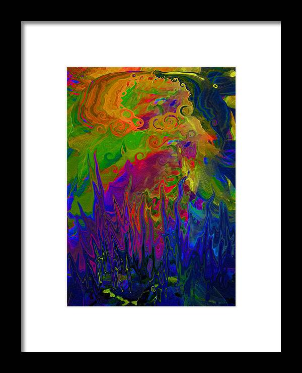 Pot Framed Print featuring the digital art Boiling Pot by Constance Krejci