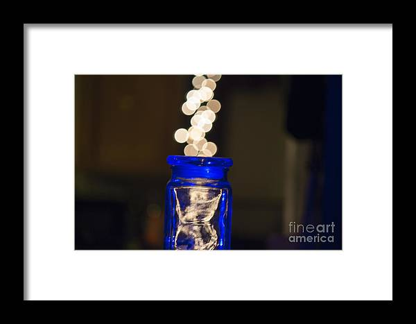 Bokeh Framed Print featuring the photograph Bokeh Jar by Cj Avery