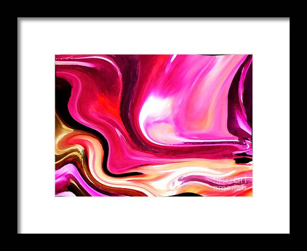 Abstract Framed Print featuring the photograph Bold Pink Abstract by Carol Groenen