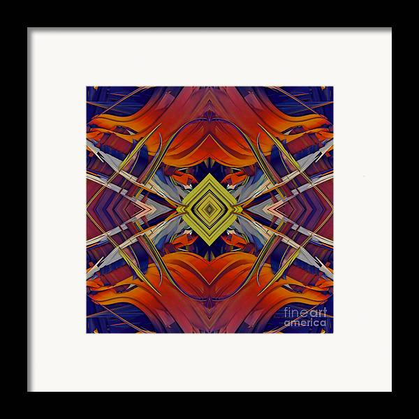 Abstract Framed Print featuring the digital art Boldness Of Color by Deborah Benoit