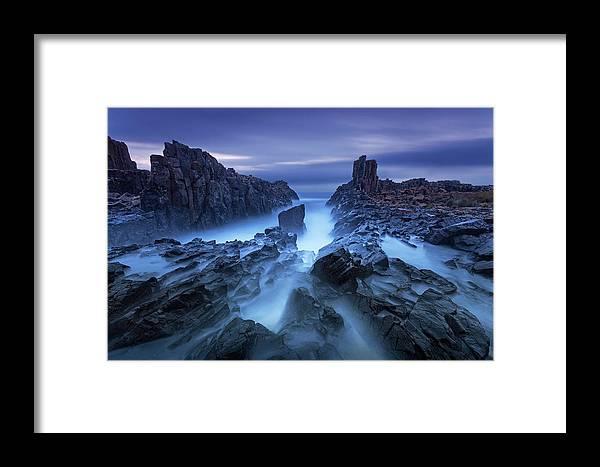 Seascape Framed Print featuring the photograph Bombo by Jingshu Zhu