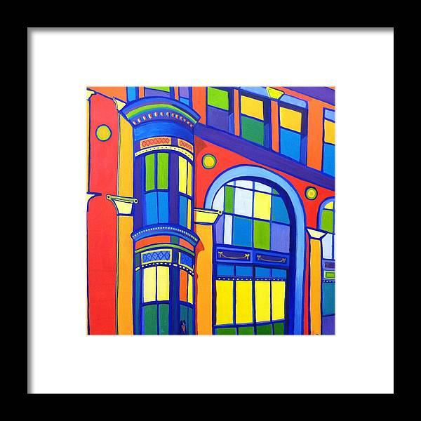 Cat Framed Print featuring the painting Bon Marche Cat by Debra Bretton Robinson