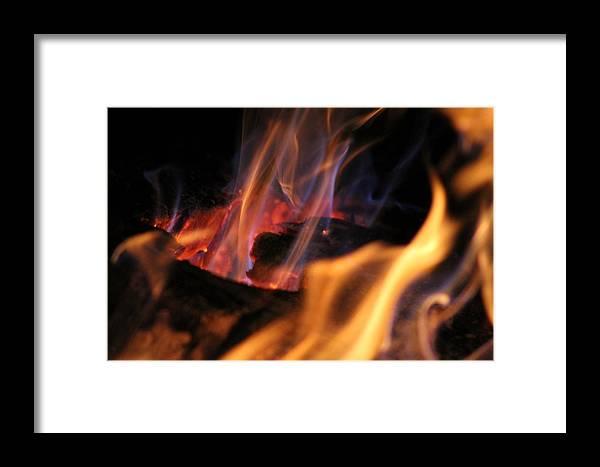 Bonfire Framed Print featuring the photograph Bonfire by Robin Vargo