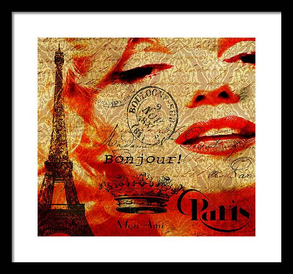 Marilyn Framed Print featuring the photograph Bonjour Marilyn by Greg Sharpe