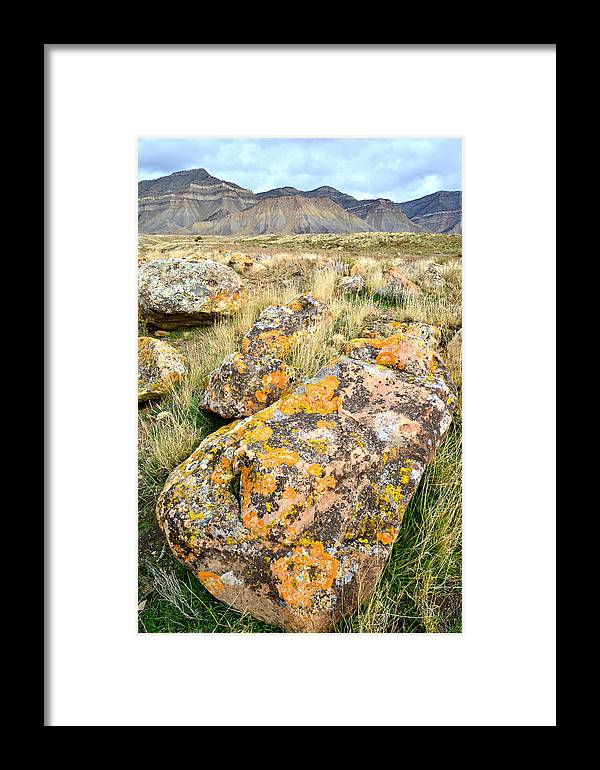 Bookcliffs Framed Print featuring the photograph Bookcliffs 118 by Ray Mathis
