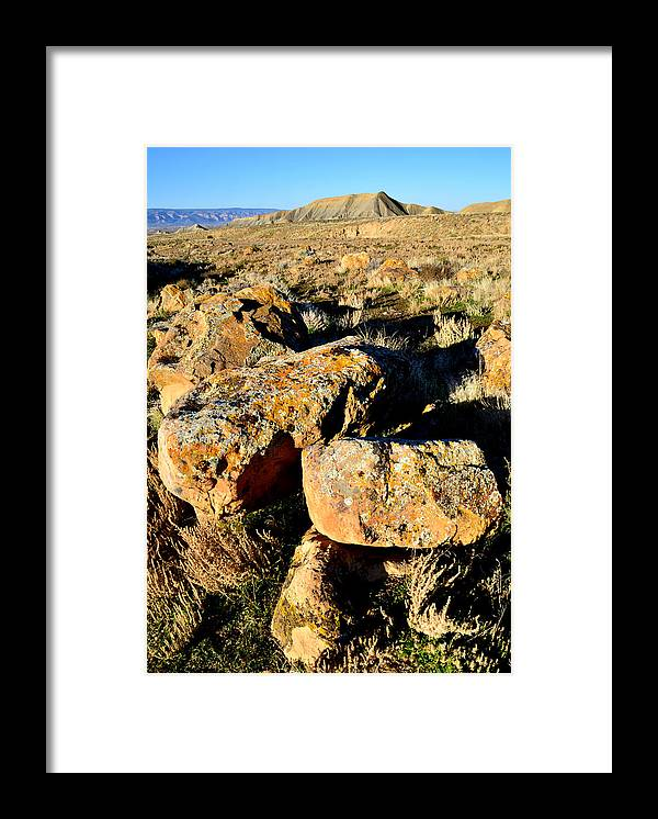 Bookcliffs Framed Print featuring the photograph Bookcliffs 138 by Ray Mathis