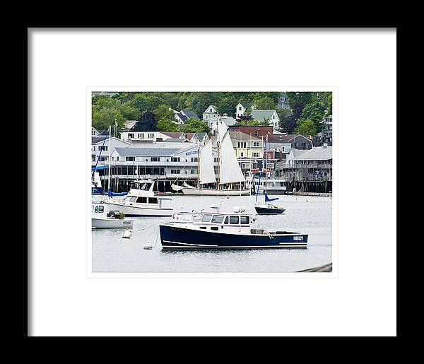 Boats Framed Print featuring the photograph Boothbay Harbor by Gene Norris