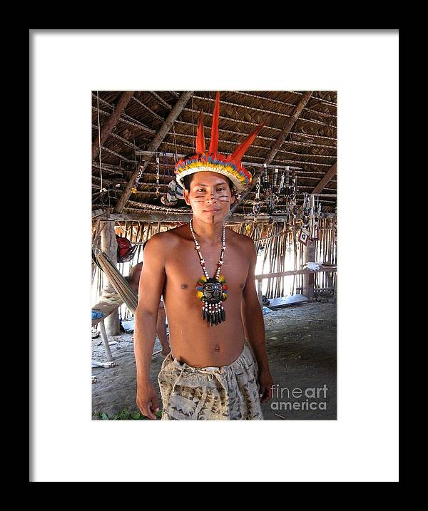 Amazon Framed Print featuring the photograph Bora Man by Gart Van Gennip
