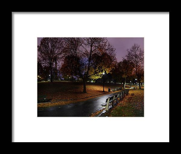 Tranquility Framed Print featuring the photograph Boston Common Park by By Yuri Kriventsov