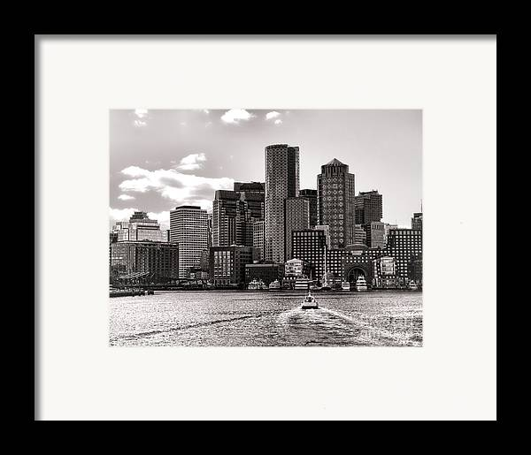 Boston Framed Print featuring the photograph Boston by Olivier Le Queinec