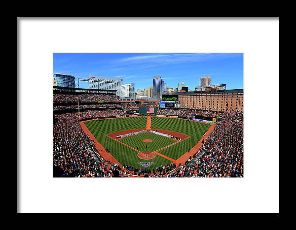People Framed Print featuring the photograph Boston Red Sox V Baltimore Orioles by Rob Carr