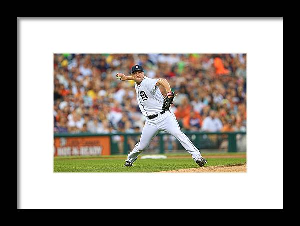 American League Baseball Framed Print featuring the photograph Boston Red Sox V Detroit Tigers by Leon Halip