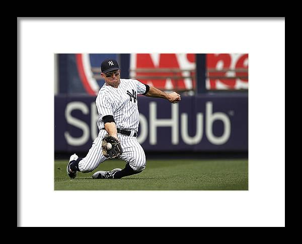 People Framed Print featuring the photograph Boston Red Sox V New York Yankees by Rich Schultz