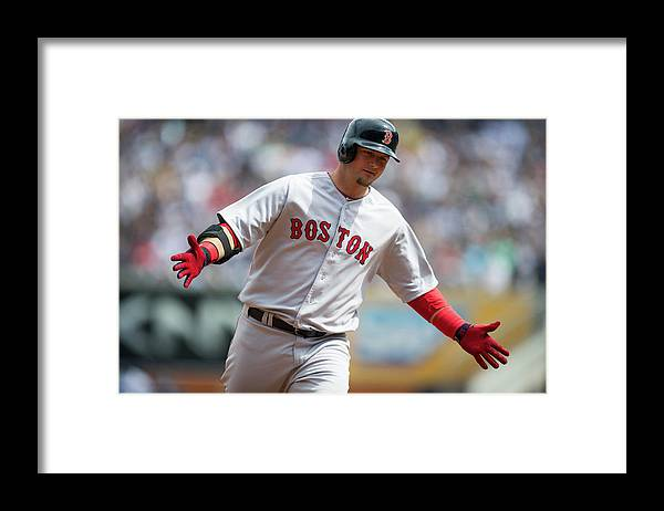 East Framed Print featuring the photograph Boston Red Sox V. New York Yankees by Rob Tringali