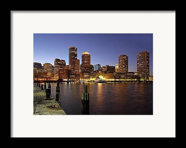 Boston Framed Print featuring the photograph Boston Skyline And Fan Pier by Juergen Roth