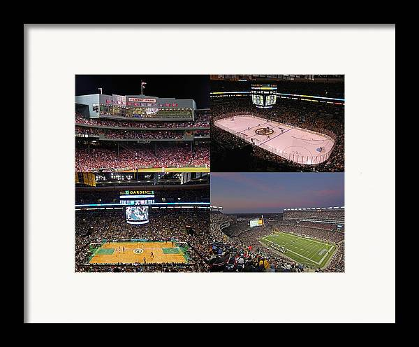 Boston Framed Print featuring the photograph Boston Sports Teams And Fans by Juergen Roth