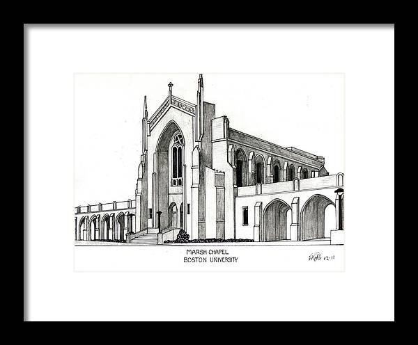 Boston University Marsh Chapel Framed Print by Frederic Kohli
