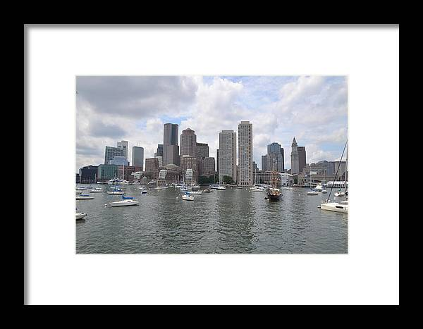 Boston Harbour Framed Print featuring the photograph Boston Waterfront by Todd Elliott