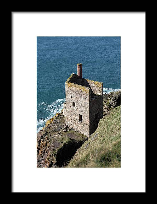 Tin Framed Print featuring the photograph Botallack Tin Mine St Just, Cornwall by Anthony Collins