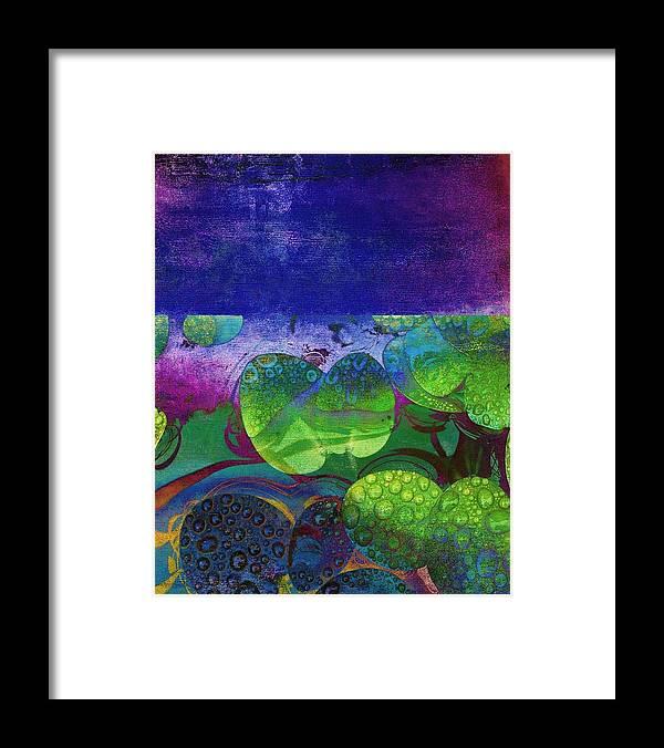Botanical-art-prints Framed Print featuring the mixed media Botanical Elements II by Ricki Mountain