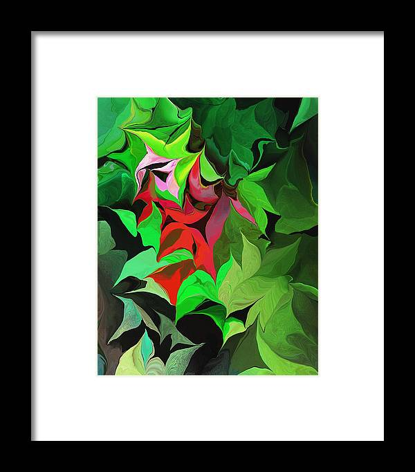 Abstract Framed Print featuring the digital art Botanical Fantasy 071613 by David Lane