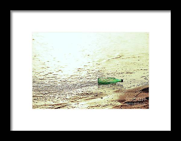 Art Framed Print featuring the photograph Bottle by Thereasa Gwinn